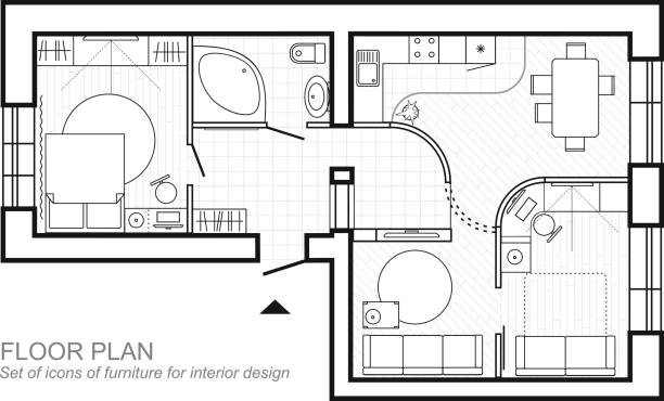 Royalty Free House Floor Plan Clip Art, Vector Images ...