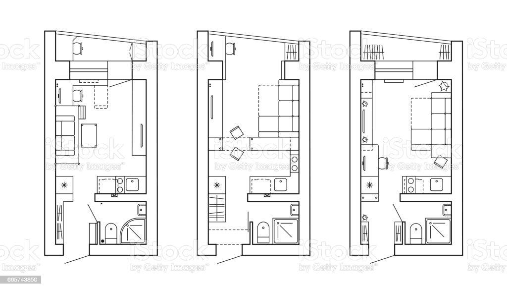 Bauplan Eines Hauses Stock Vektor Art und mehr Bilder von Abzeichen ...
