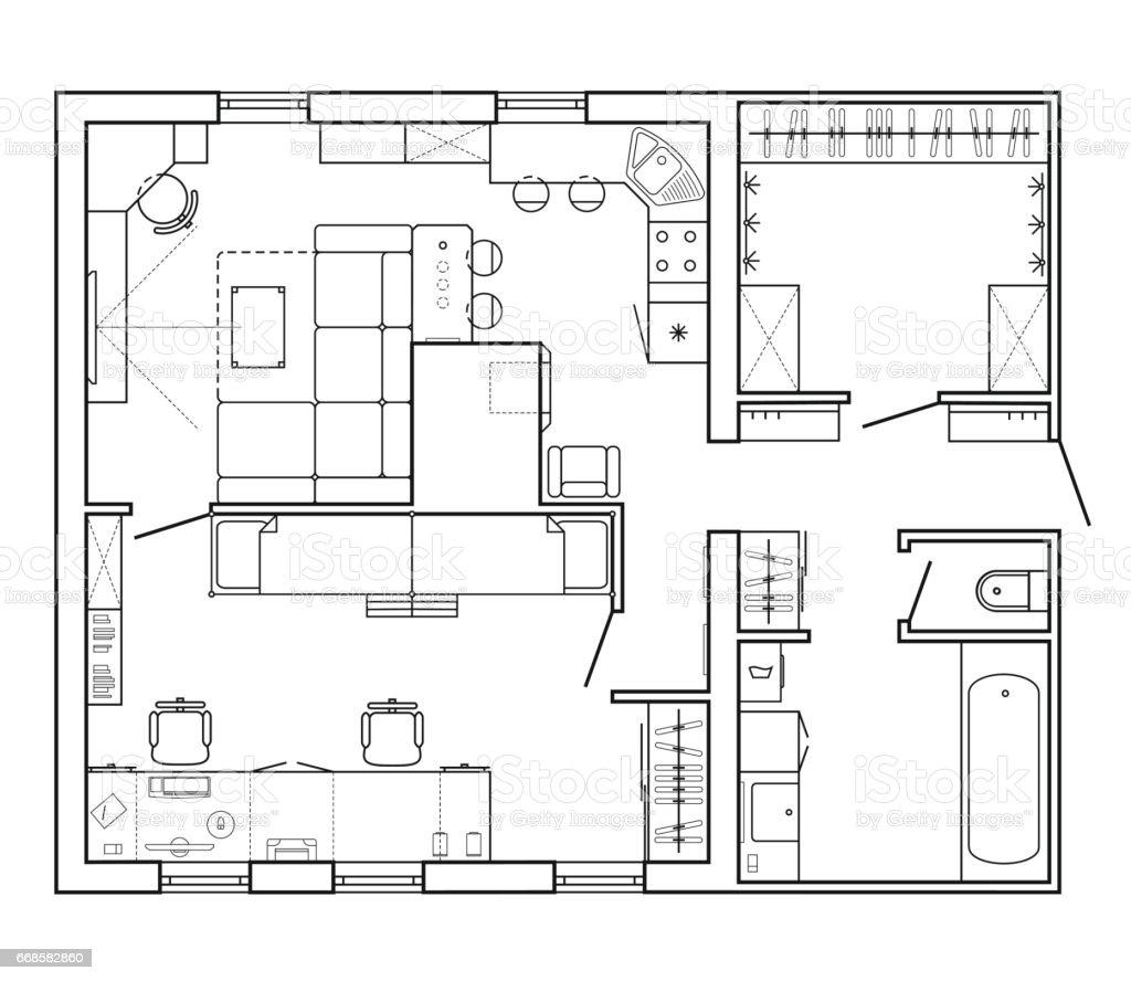 Bauplan Eines Hauses Lizenzfreies Bauplan Eines Hauses Stock Vektor Art Und  Mehr Bilder Von Abzeichen
