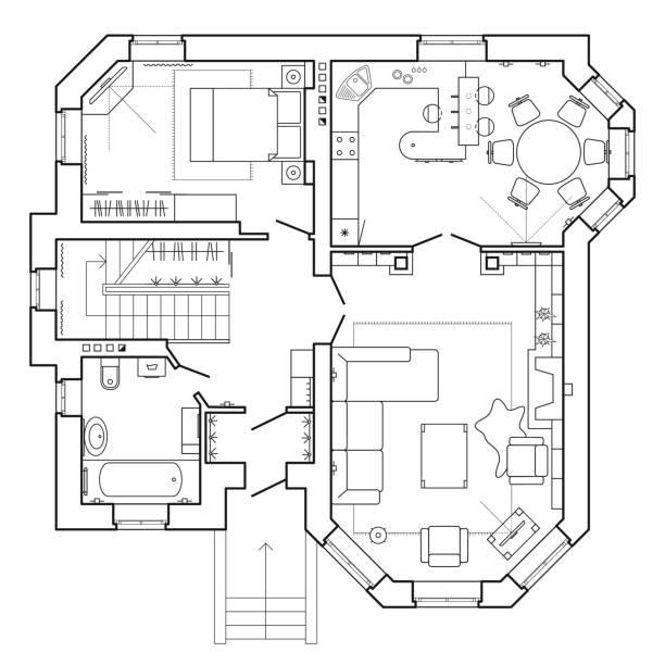 Royalty Free Floor Plan Clip Art, Vector Images