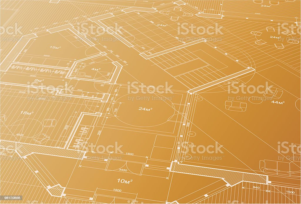 Architectural plan of the house royalty-free architectural plan of the house stock vector art & more images of architect