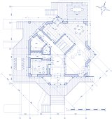Architectural plan of the modern house