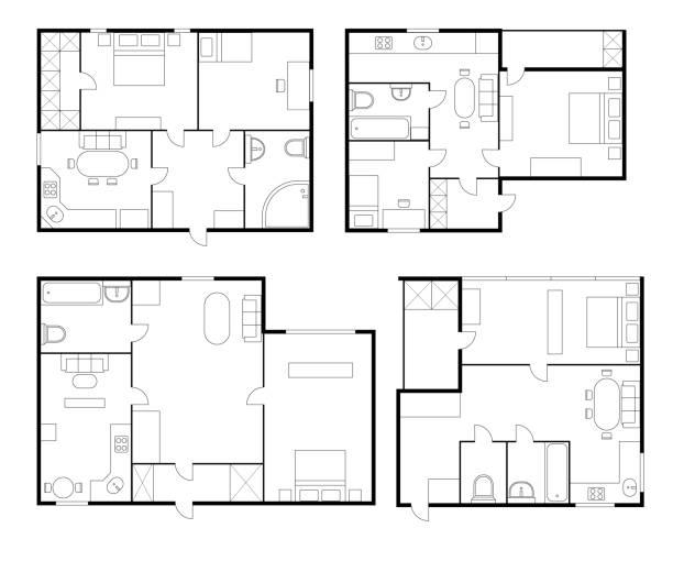 1 476 Floor Plan Illustrations Clip Art Istock