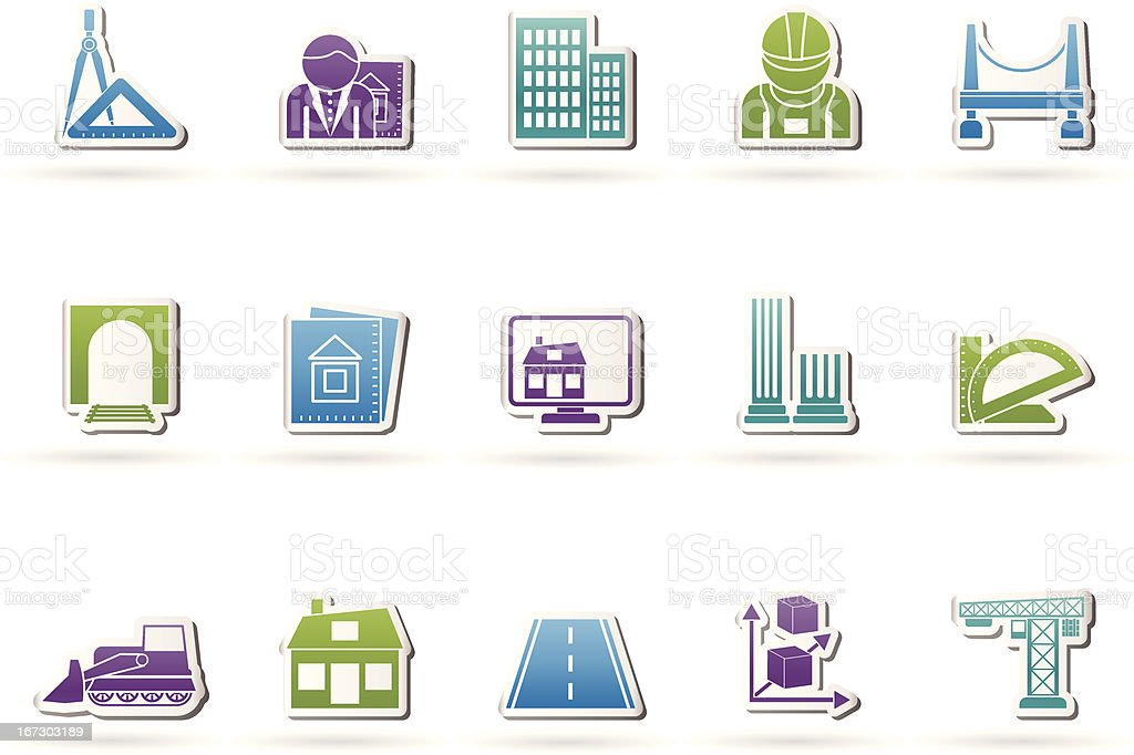 architecture and construction icons royalty-free stock vector art