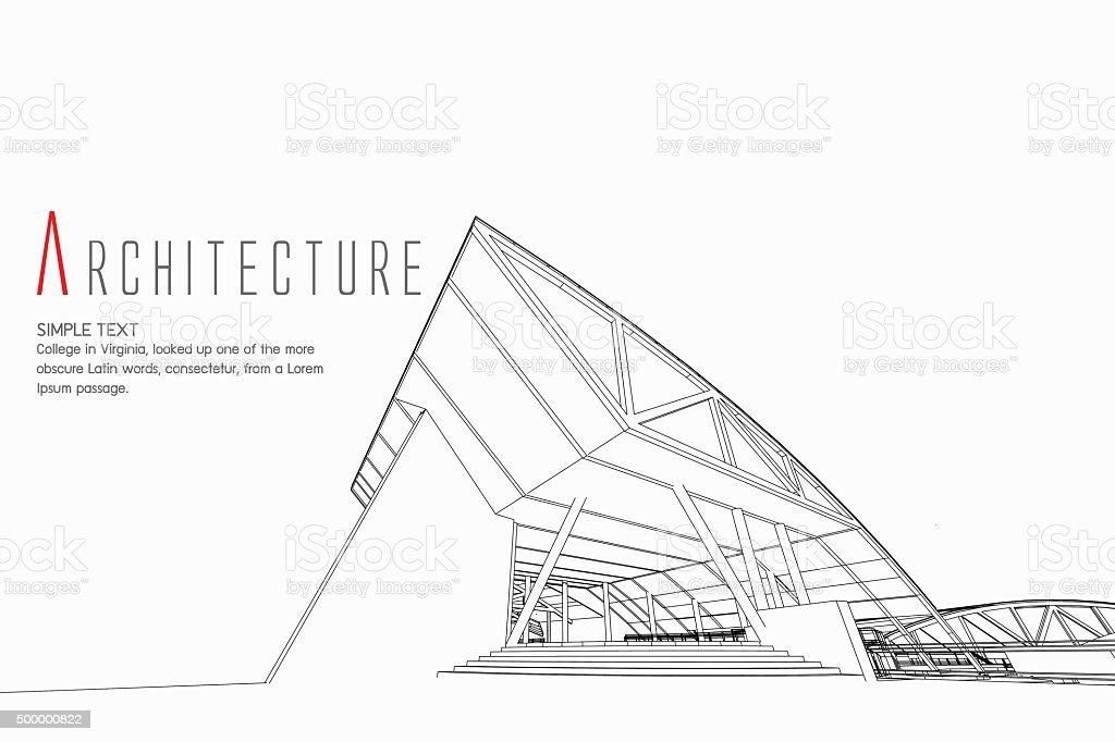 Arquitectura de fondo - ilustración de arte vectorial