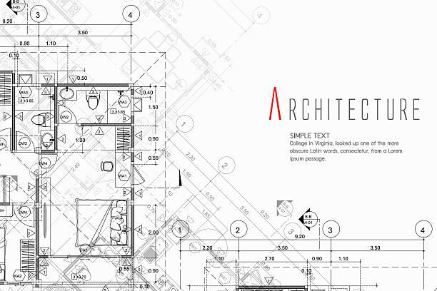 architektur-hintergrund - hausprojekte stock-grafiken, -clipart, -cartoons und -symbole