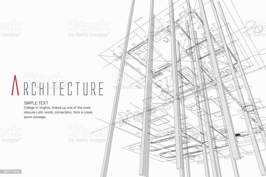 Architektur-Hintergrund Lizenzfreies architekturhintergrund stock vektor art und mehr bilder von architektur