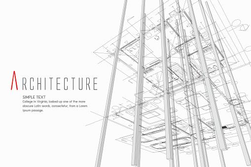 Architekturhintergrund Stock Vektor Art und mehr Bilder von Architektur