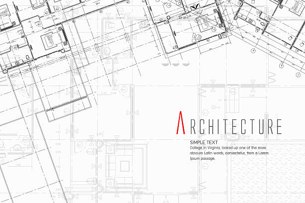 bildbanksillustrationer, clip art samt tecknat material och ikoner med architecture background - blueprint