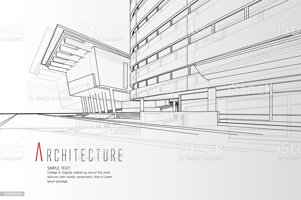 Architecture Background vector art illustration