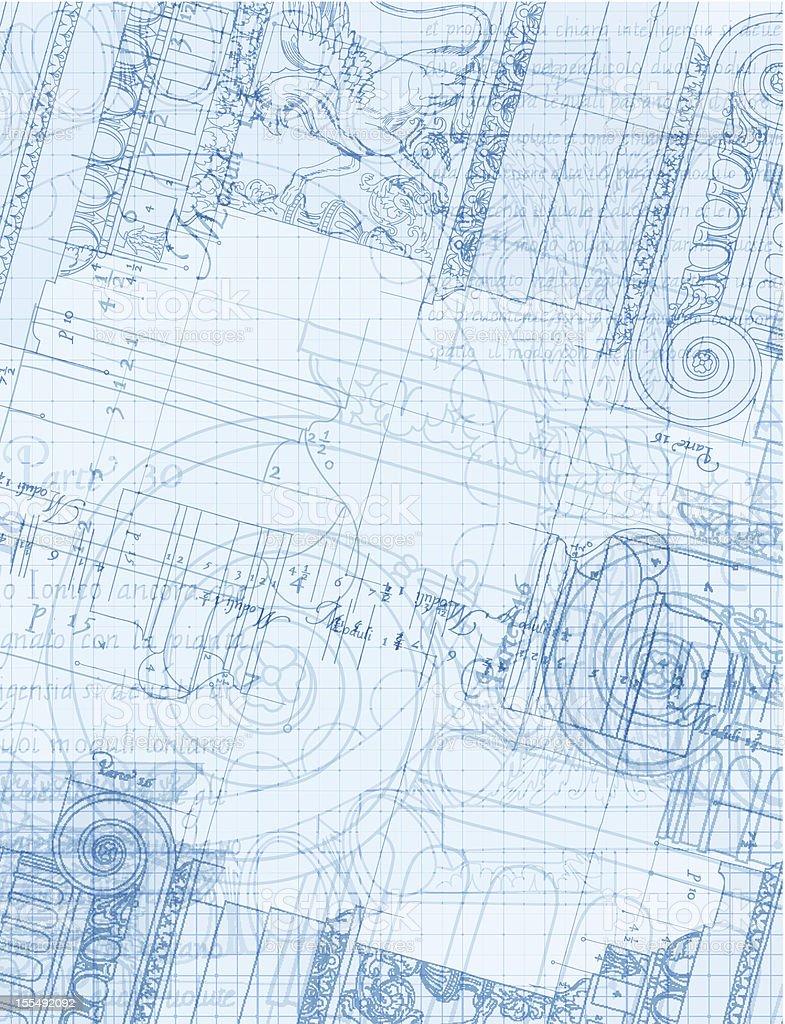 architecture blueprint royalty-free stock vector art