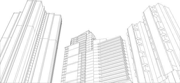 architecture building 3d architecture building 3d architecture patterns stock illustrations