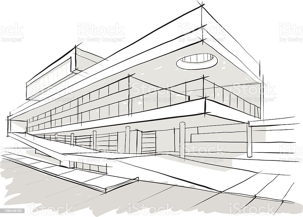 architecture building sketch stock illustration download image now istock https www istockphoto com vector architecture building sketch gm158446162 22496089