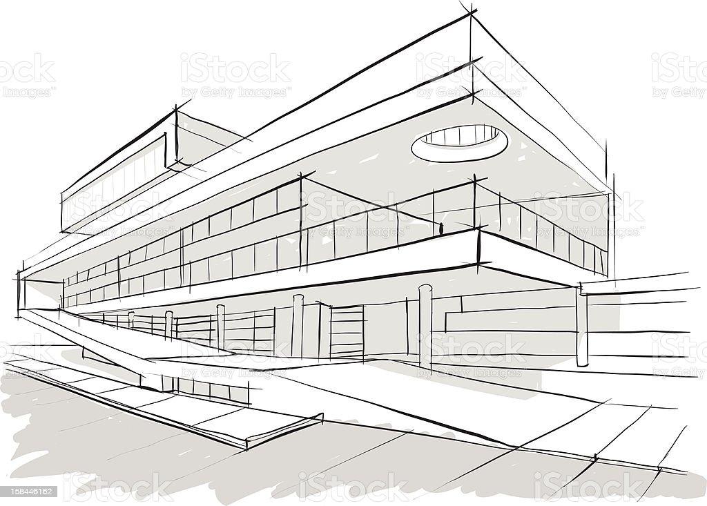 Architektur geb ude skizze stock vektor art und mehr - Architektur skizze ...
