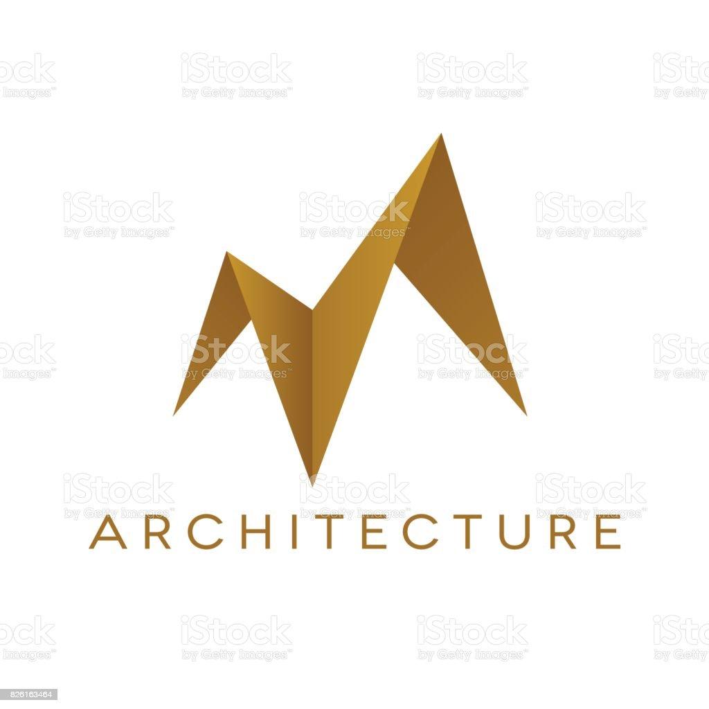 Forme De Toit forme de toit design logo architecture illustration vectorielle