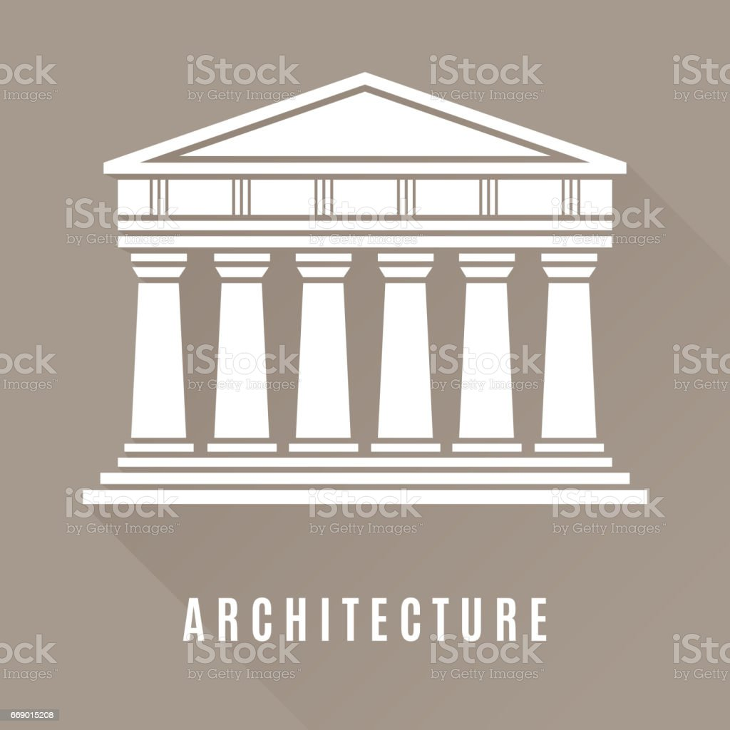 Architecture greek temple icon
