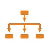 istock Architecture, hierarchy icon. Orange vector 1319774068