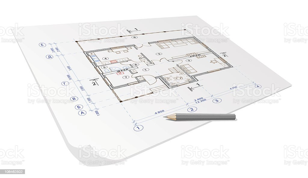 architecture house plan background royalty-free stock vector art