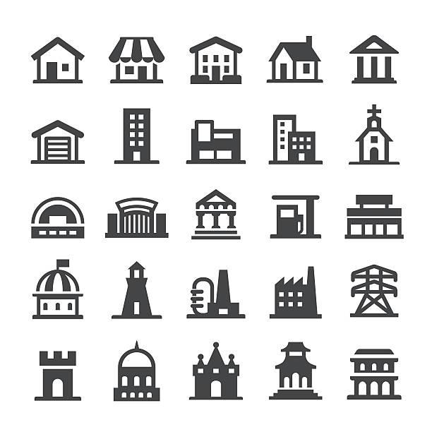 architecture icons - smart series - villas stock-grafiken, -clipart, -cartoons und -symbole