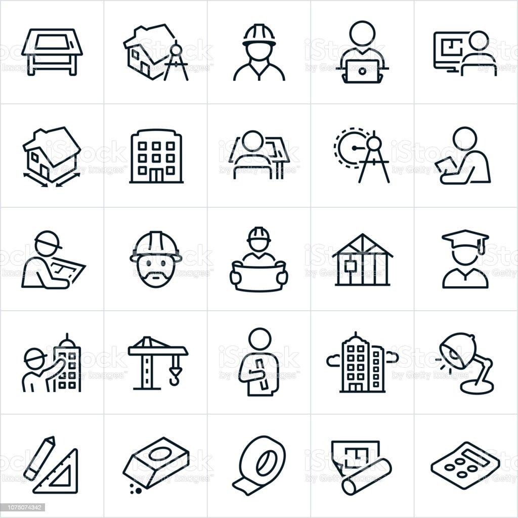 Icônes de l'architecture - Illustration vectorielle