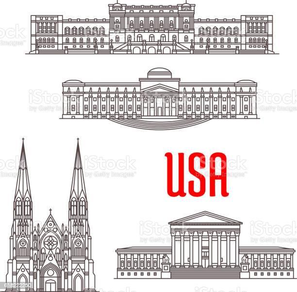 Architecture landmarks of usa vector id618222250?b=1&k=6&m=618222250&s=612x612&h=v9wgeq0co4koq2u2cbteotyrsteoa35atcxhxsonxr4=