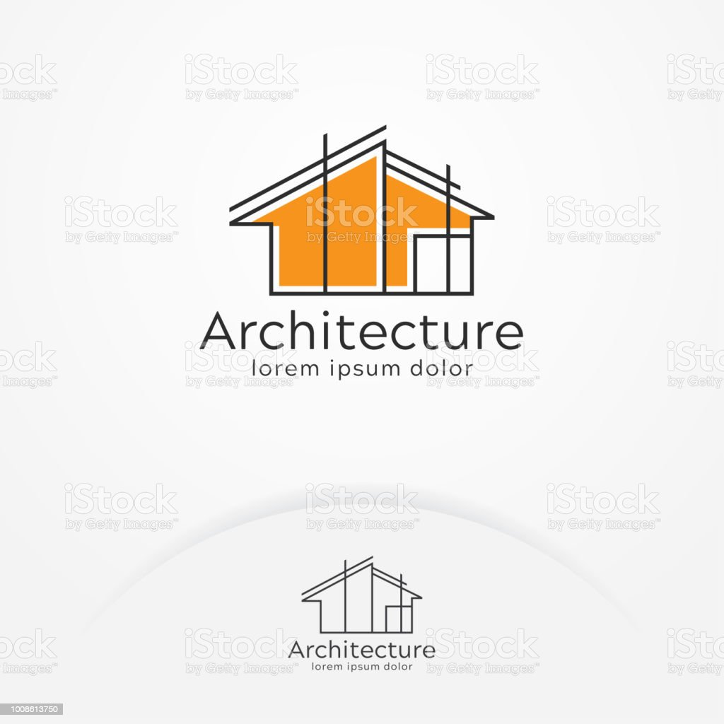 Architecture logo design vector art illustration