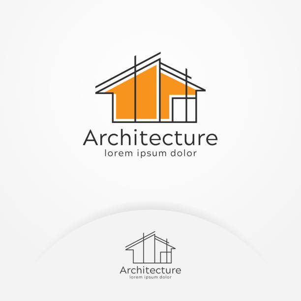 mimari logo tasarımı - abstract architecture stock illustrations