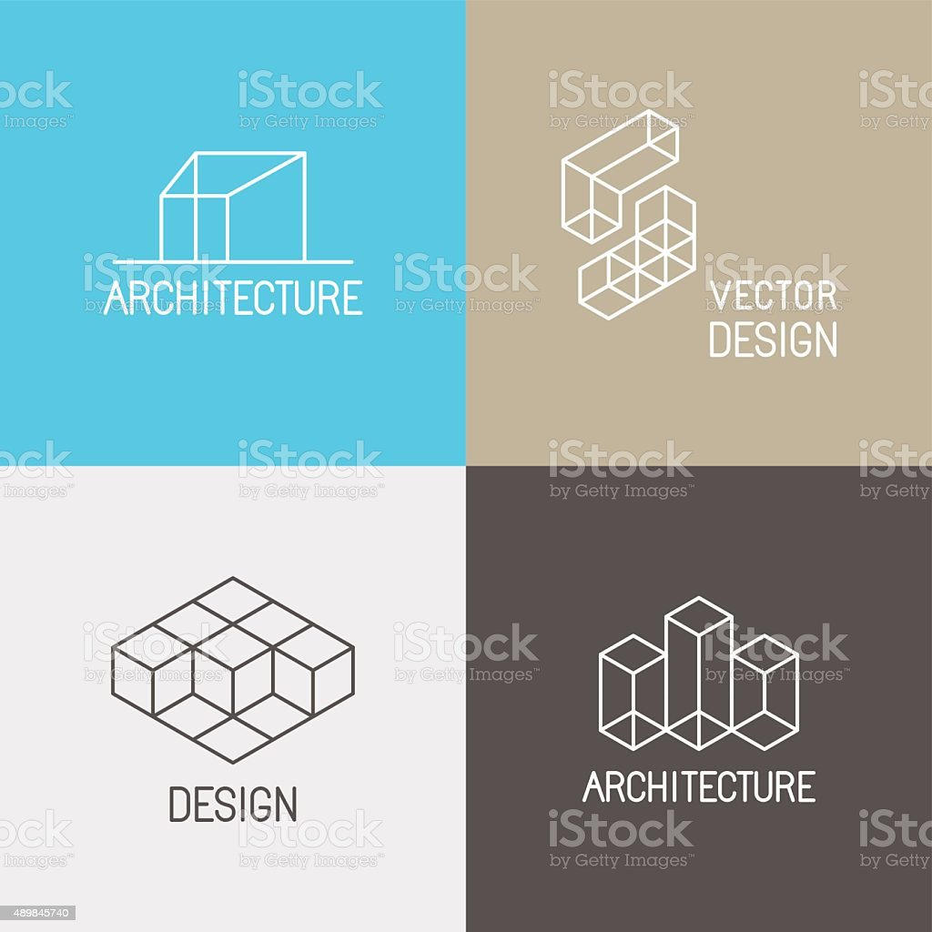 Architecture logos vector art illustration