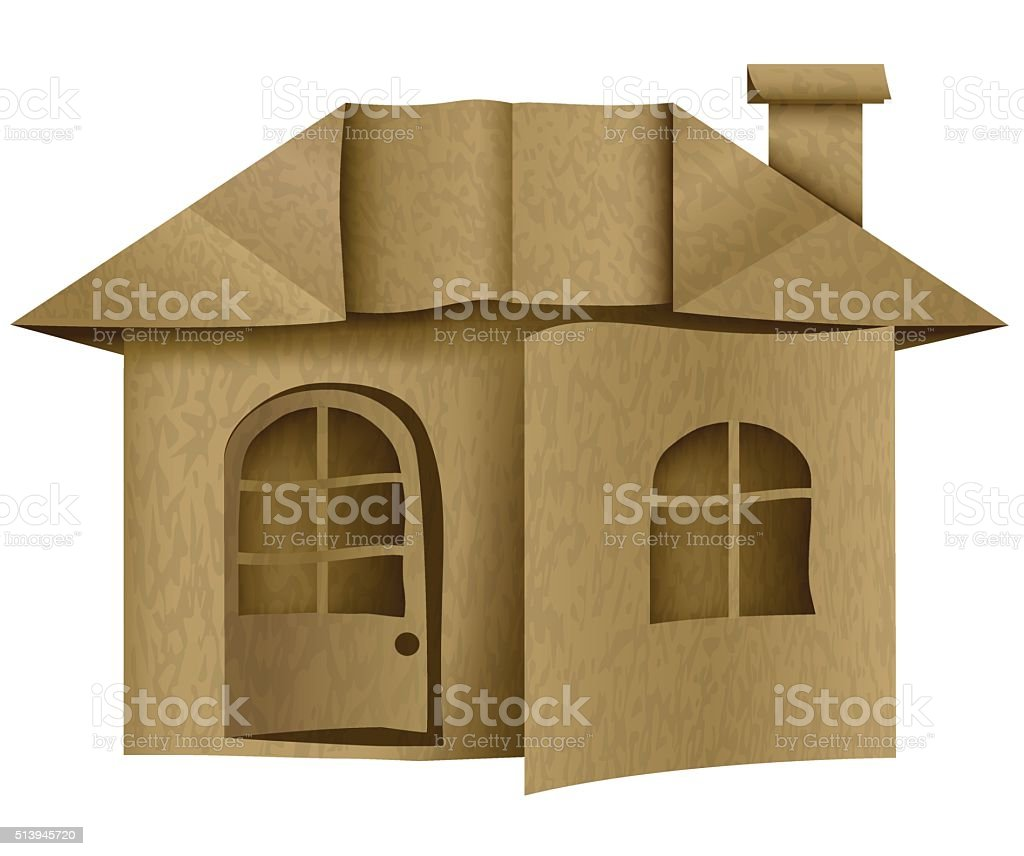 larchitecture carton papier origami maison cliparts. Black Bedroom Furniture Sets. Home Design Ideas