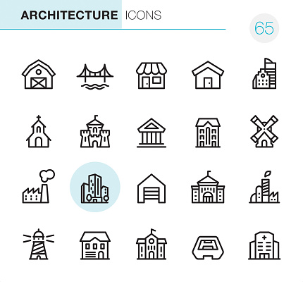 Architecture - Pixel Perfect icons