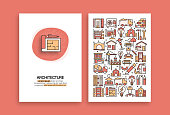 Architecture Related Design. Modern Vector Templates for Brochure, Cover, Flyer and Annual Report.
