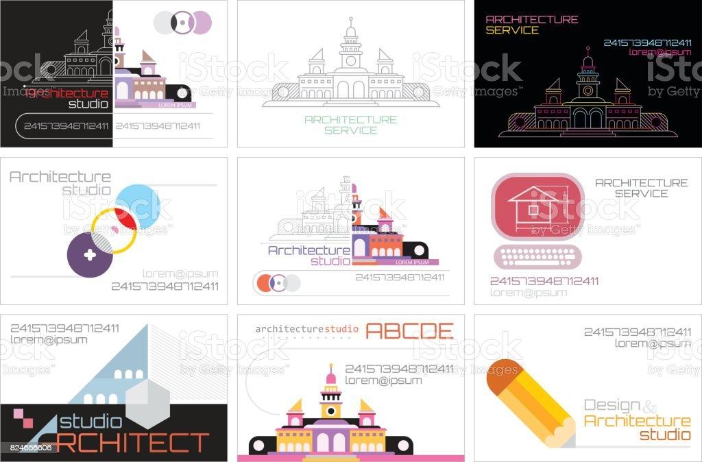 Cartes De Visite Pour Le Studio Architecture Cliparts