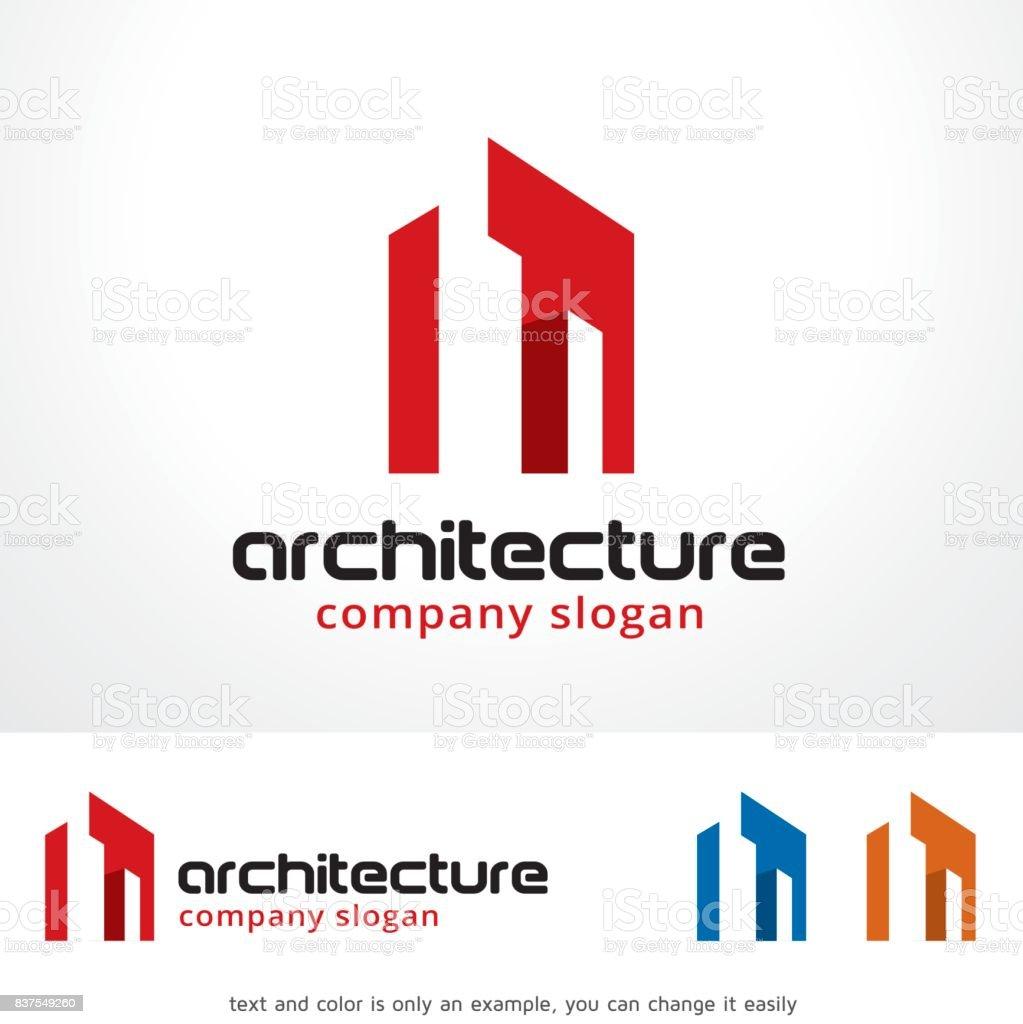 建築シンボル テンプレート デザイン ベクトル、エンブレム、デザイン コンセプト、創造的なシンボル アイコン ベクターアートイラスト