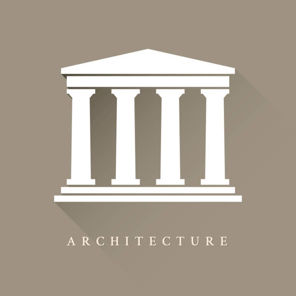 건축양상 기호까지 - 기둥 stock illustrations