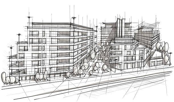 architektur - städtische mode stock-grafiken, -clipart, -cartoons und -symbole