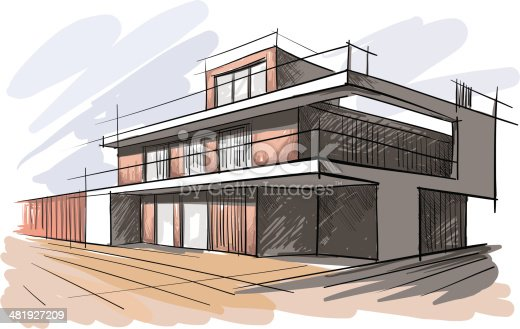 vector illustration of the architectural design