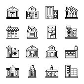 architectures line icons with modern construction is ready to edit and use as per requirement. Best for your designing and graphics projects