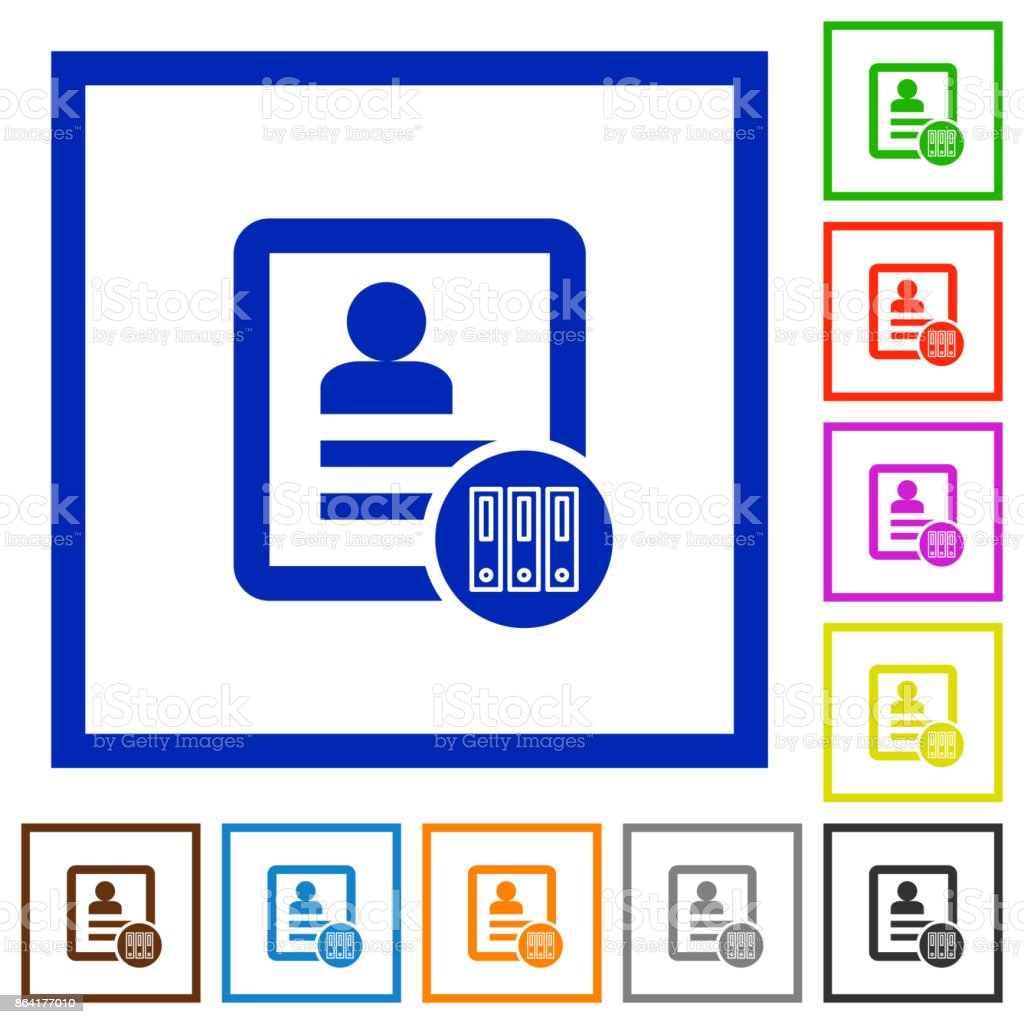Archive contact flat framed icons royalty-free archive contact flat framed icons stock vector art & more images of applying