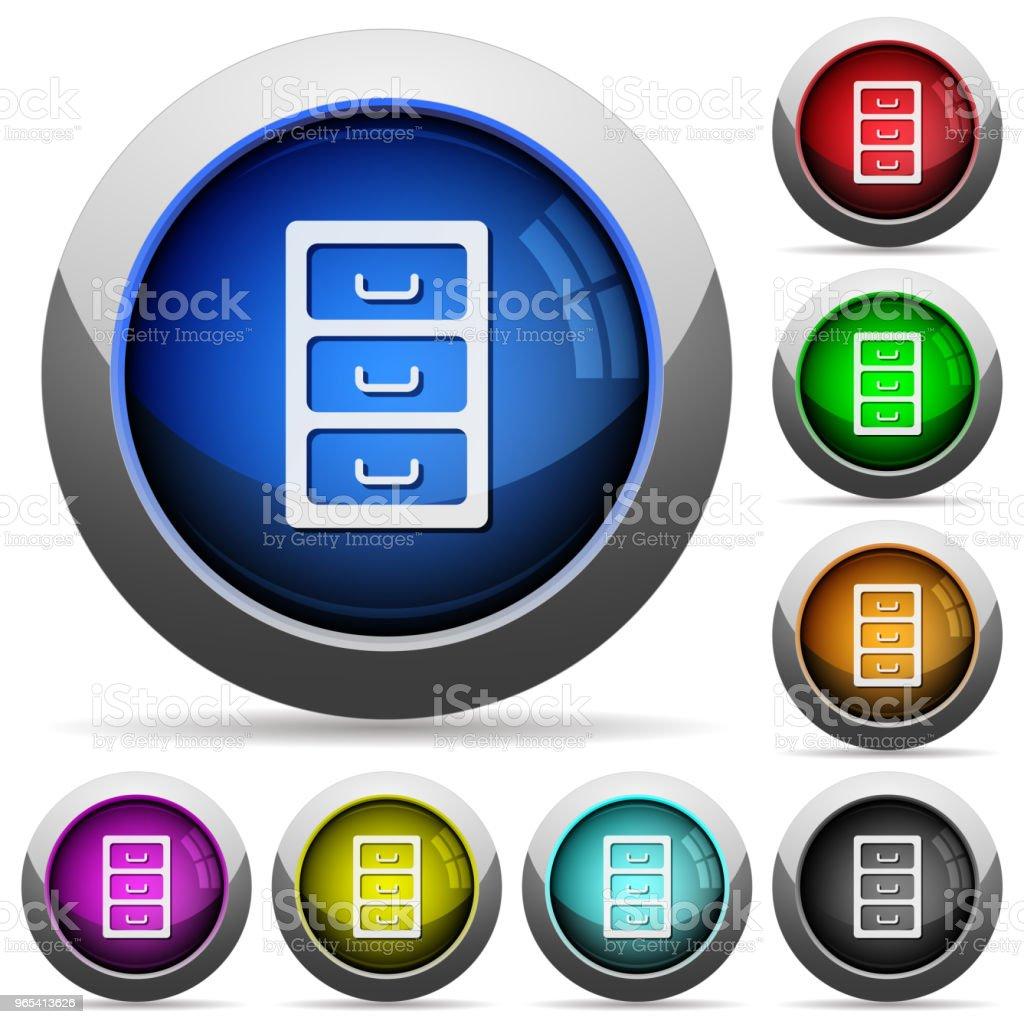 Archive file cabinet round glossy buttons archive file cabinet round glossy buttons - stockowe grafiki wektorowe i więcej obrazów administrator royalty-free