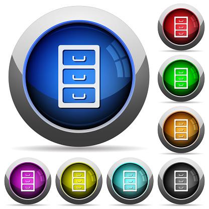 아카이브 파일 캐비닛 광택 버튼 라운드 가구에 대한 스톡 벡터 아트 및 기타 이미지