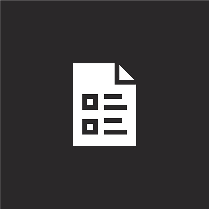 archive icon. Filled archive icon for website design and mobile, app development. archive icon from filled nerd collection isolated on black background.