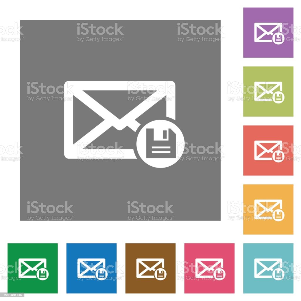 Archive mail square flat icons royalty-free archive mail square flat icons stock vector art & more images of applying