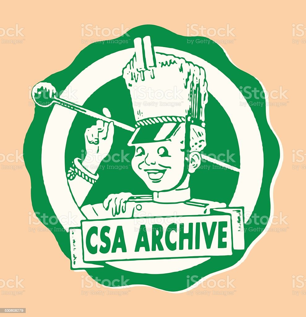 CSA Archive Marching Band vector art illustration