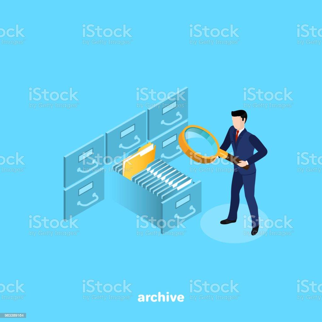 archive vector art illustration