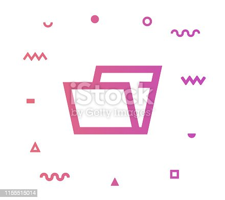 Archives outline style icon design with decorations and gradient color. Line vector icon illustration for modern infographics, mobile designs and web banners.