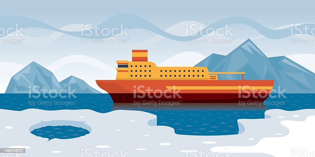 Arctic Cruise vector art illustration