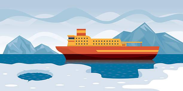 北極クルーズ - 南極旅行点のイラスト素材/クリップアート素材/マンガ素材/アイコン素材