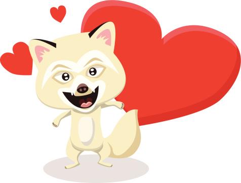 Arctic Fox Valentine