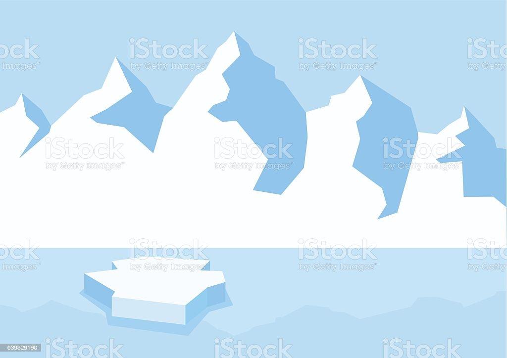 Arctic landscape clip art ベクターアートイラスト