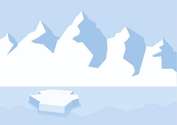 Arctic landscape clip art – Vektorgrafik